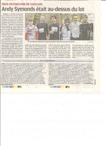 Article Trail 2015 La Provence
